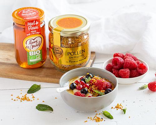Yaourt végétal au miel de fleurs et pollen Lune de Miel®