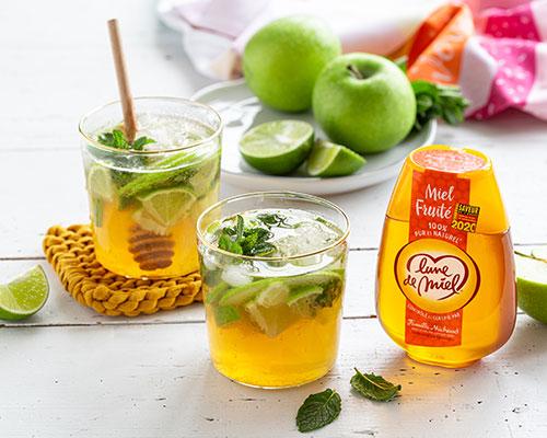 Virgin mojito à la pomme et au miel fruité Lune de Miel®